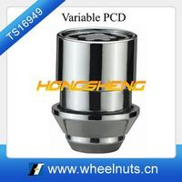 variable PCD chrome wheel locking nuts