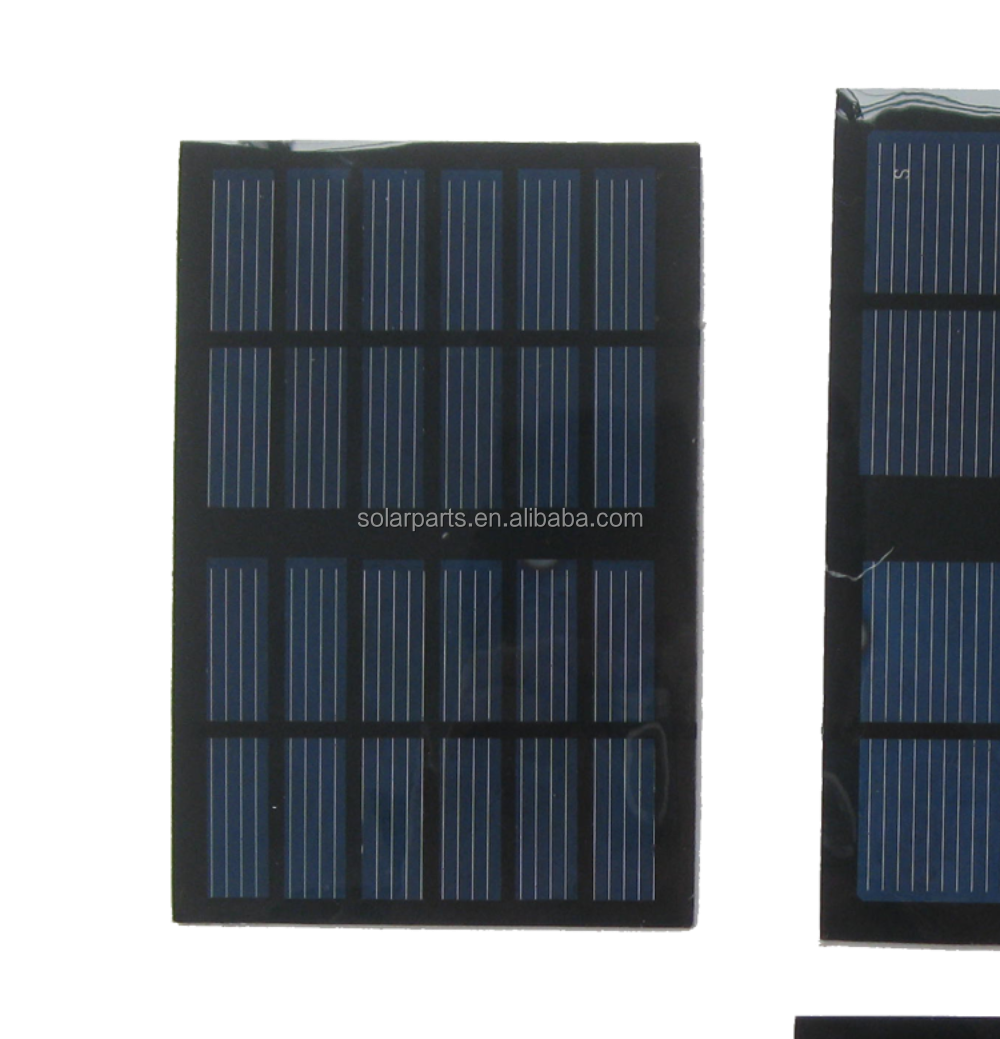 High efficiency A-grade monocrystalline 5V 1.5W small size PET solar panel for power bank