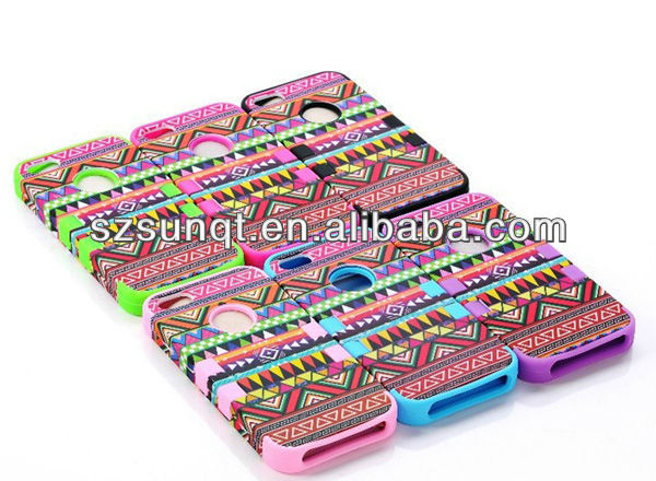 Hybrid High Impact Hard Aztec Tribal Protective Cover Case For cellphone