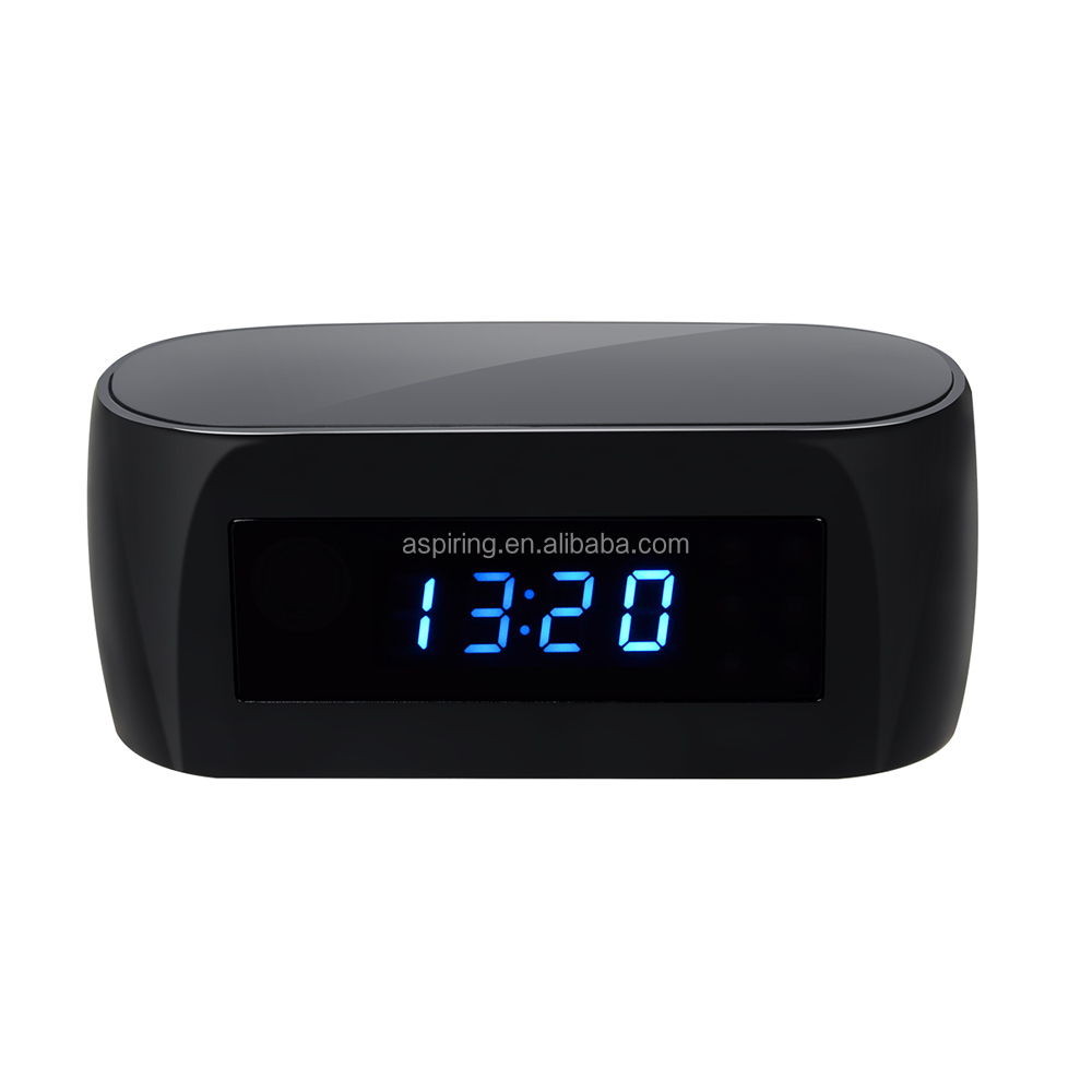 1080P With Night Vision Motion Detection Remote Control Hidden Clock Camera hd digital table clock