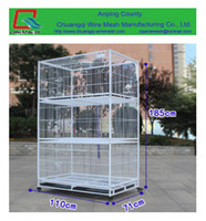 Chuangqi Brand Foldable metal wire bird cages, bird breeding house, parrot cage