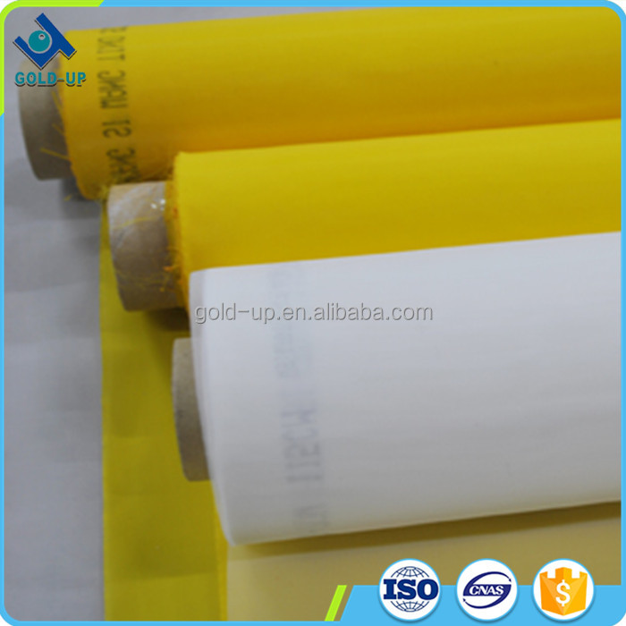 Gold-up made custom color silk screen mesh/high tension screen printing 100% polyester mesh