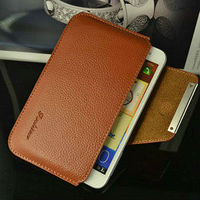New 2013 hot selling fashion luxuty belt clip genuine leather case for galaxy note i9220