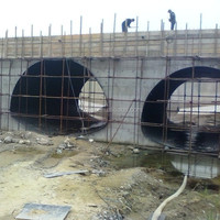 ISO certificated steel plate for culvert pipe, bridge support culvert pipe arch