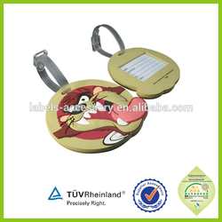 OEM made pvc animal shaped custom rubber luggage tag for small gifts
