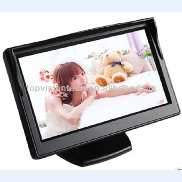 Factory low price 5 inch stand alone LCD car moniter with 2 channel video input