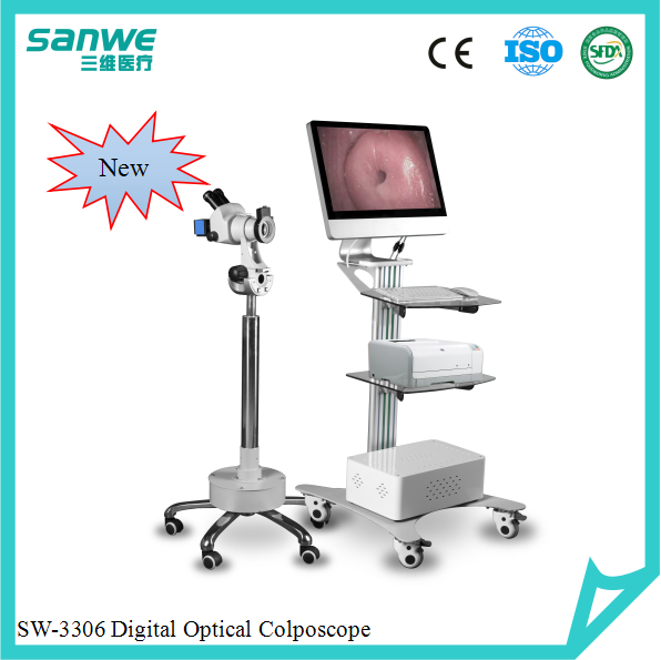 3306 Digital Video Colposcope with Microscope, Colposcope with Camera, Gynecology Optical Colposcope