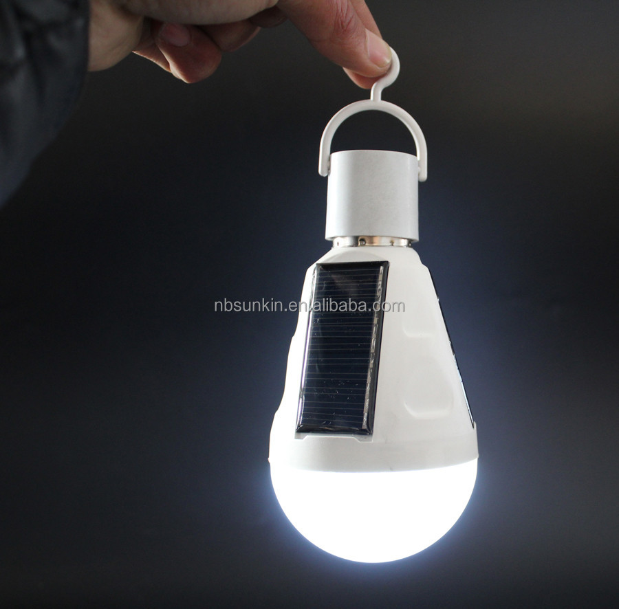 patented new design solar rechargeable emergency LED <strong>bulb</strong> 9W with switch control