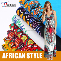 poplin African national style cotton printing fabric for clothing