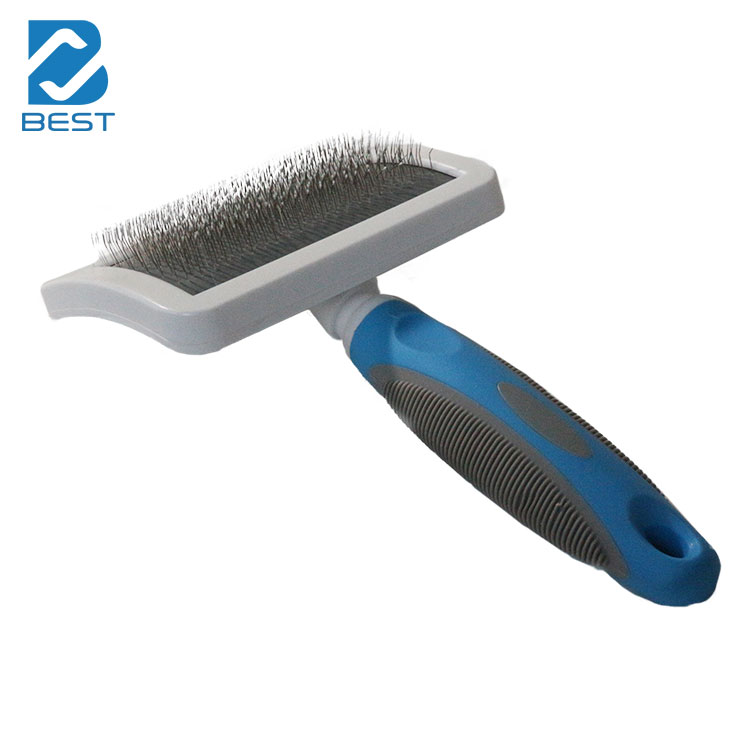 Easy Clean Stainless Steel White Dog Brush for Grooming