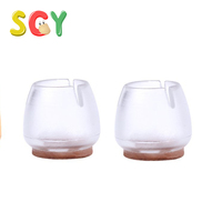 SCY CL001 4pcs Chair Leg Floor Protectors Silicone Furniture Table Covers
