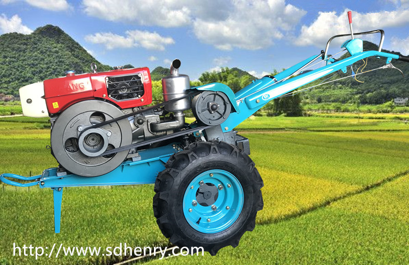 walking tractor with planter