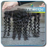 wholesale deep wave 100% human lace front wigs for small head