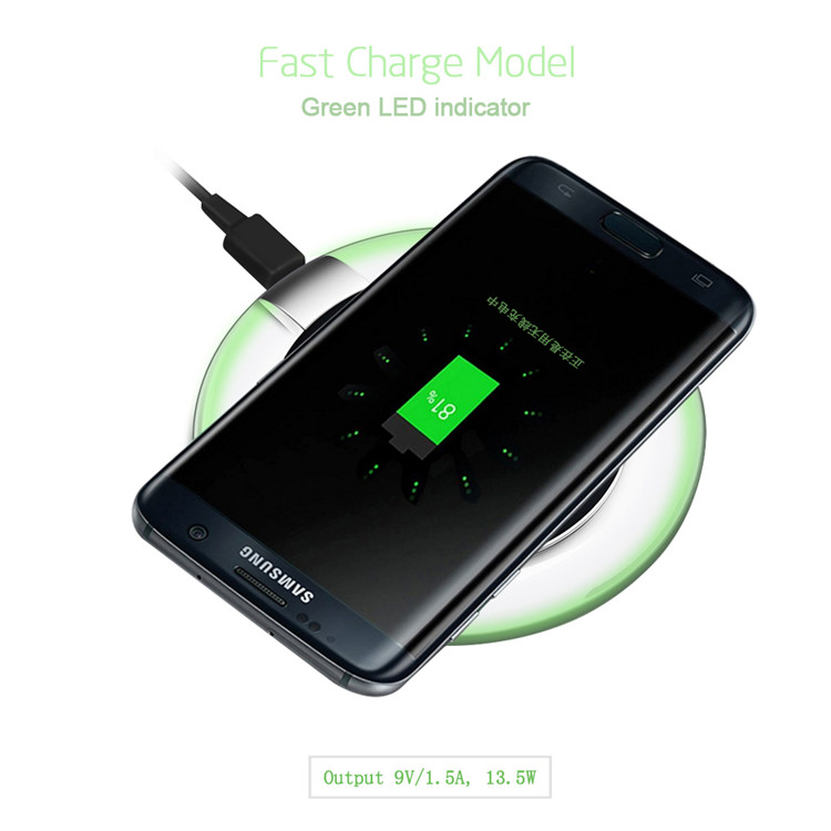 2017 Hot Selling Fast QI Wireless Charger For Any Smart Phones