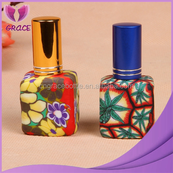 15ml refillable perfume spray bottle with gold mist spray