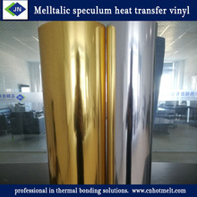 Melltalic speculum TPU heat transfer vinyl foil film for engraving film for clothing T-shirt silver and golden
