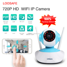 Hot selling 720P Hd 1.0mp Wireless Wifi IR Network IP Camera with TF card