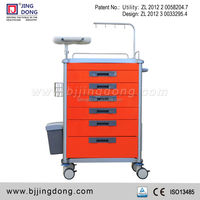Medical Emergency Crash Carts Trolley Equipment With 6 Drawers