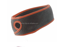 promotional gift winter running micro polar fleece sports headband plaint fixed hole
