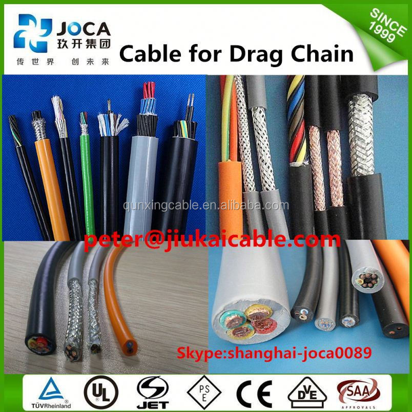 oil resistant control cable for robot,PUR high flexible drag chain cable,robotic cable