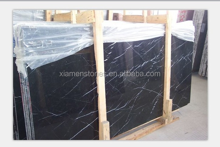 Top Quality Black Marquina Nero Marble Slabs & Tiles Wholesale