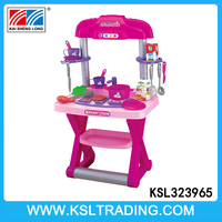 Funny kids kitchen set toy with sound and light for good sale