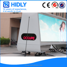 High brightness waterproof 3G or 4G wireless programmable P5 led advertising taxi roof display