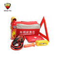 Portable emergency car kit use in emergency accident