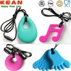 China Manufacturer Kean Soft silicone chewing pendant/kean silicone jewelry