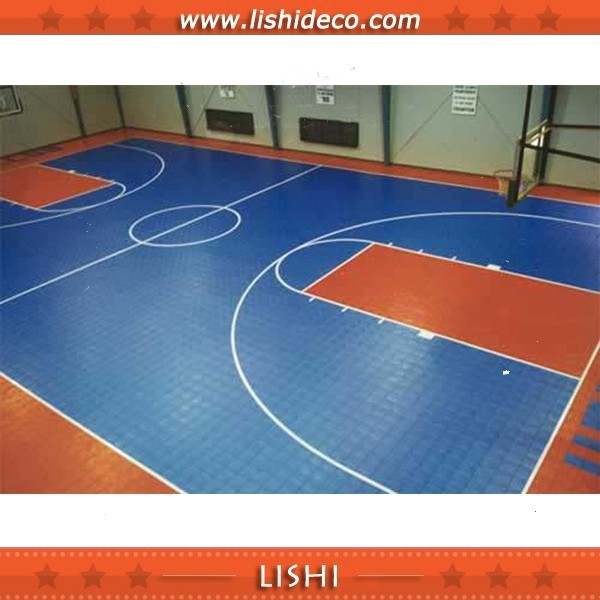 Excellent indoor portable basketball court sports flooring for Indoor basketball court flooring cost
