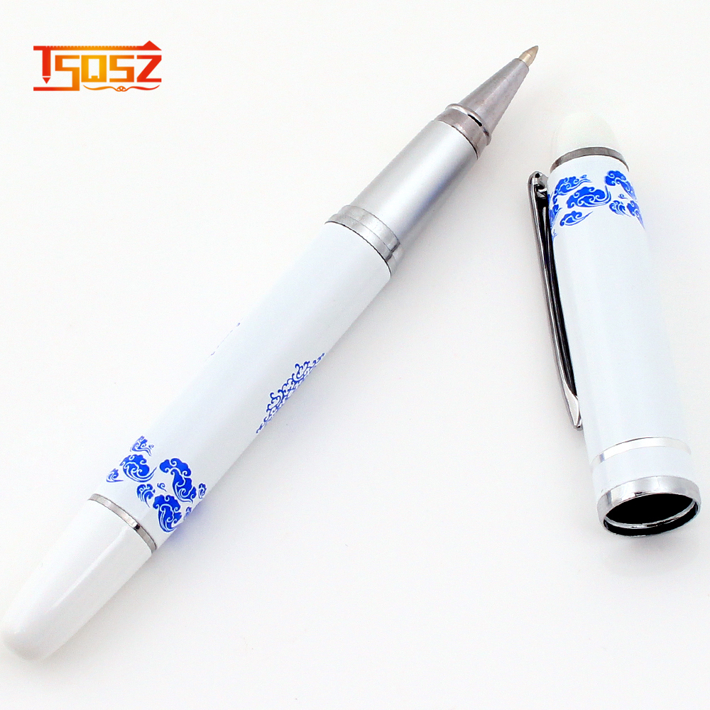 New luxury China Ceramic Blue and White Porcelain high quality ball pen