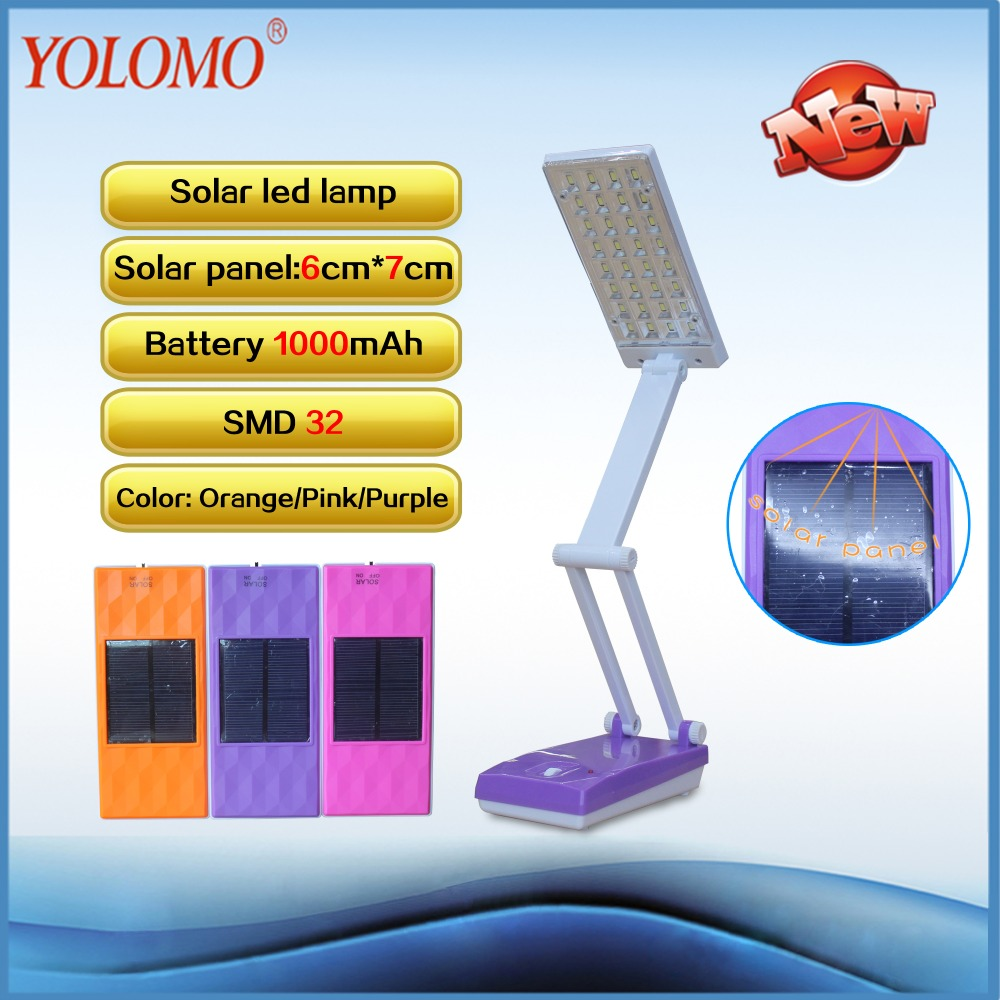 2016 New Led Solar Rechargeable Table Lamp