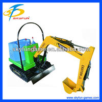 Christmas promotion amusement ride cheap kids ride on toy excavator