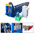 2017 hot sale full automatic steel aluminium rain water gutter roll forming machine