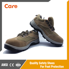 Cheap steel toe puncture resistant men suede PU action safety shoe