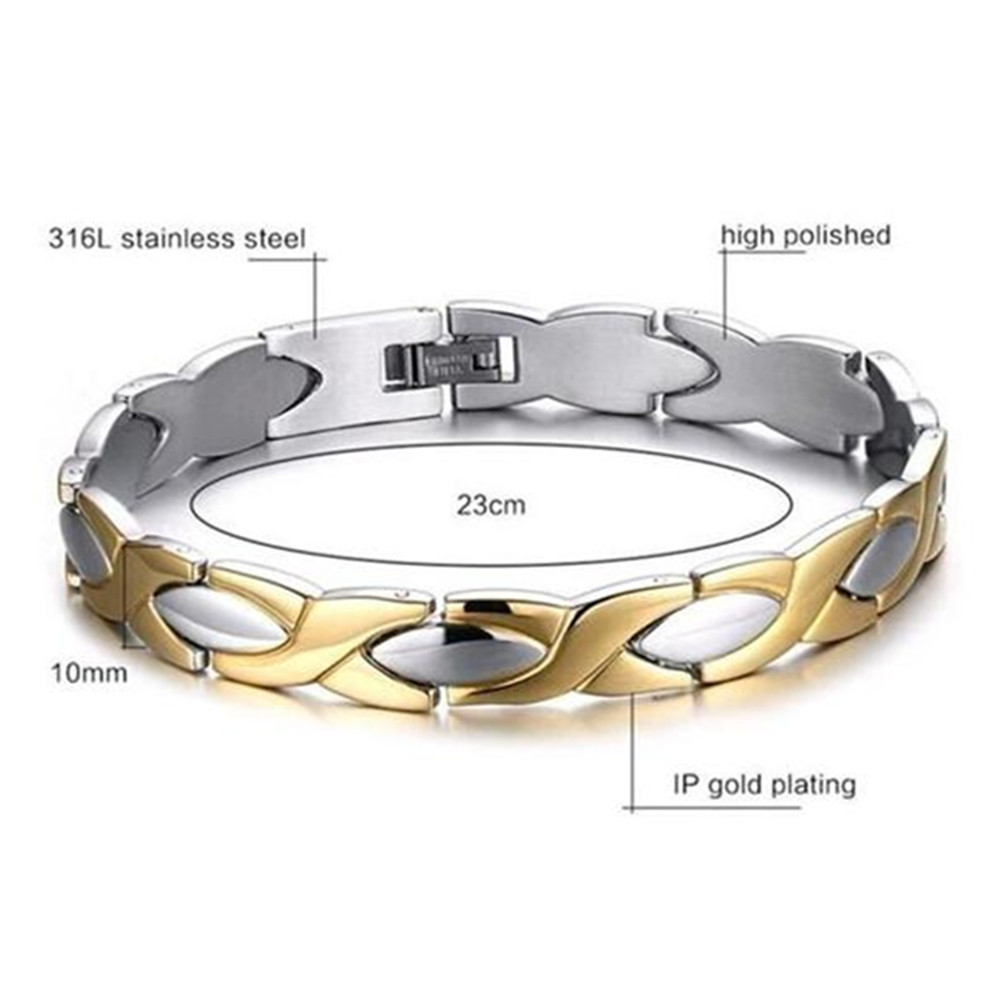 Korea hot sales bio magnetic stainless steel men bracelet