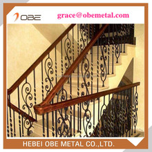 Wrought iron for wooden stairs parts for indoor or outdoor handrails with best quality