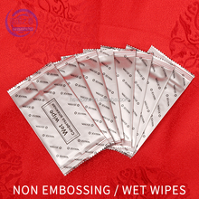 Custom disposable lemon apple scent airline wet wipes