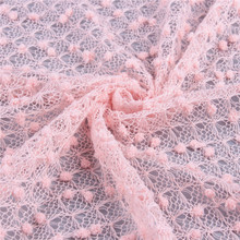 french lace embroidery lace pink mesh fabric