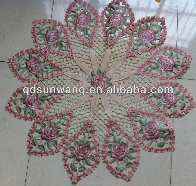 wedding embroidered cutwork tablecloth