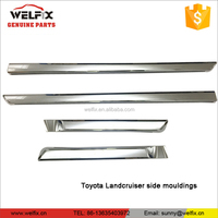 Chrome Side Mouldings For 2016 Toyota Landcruiser