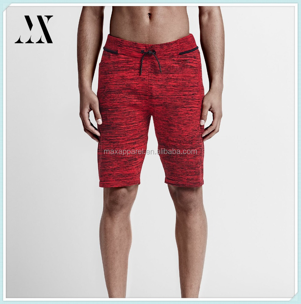 Breathable Mesh Waistband Custom Fit Two-layered Zip Pocket Man Fashion Tech Fleece Shorts Wholesale
