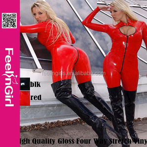 Professional Slimming Girl Hot Sexy Cheap Pvc Leather Catsuits