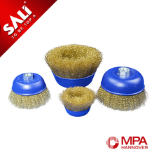 10 years experience high quality twist brass cup wire brush for cleaning rust