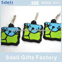 company promote gifts giveaways lovely cartoon designs personalized soft pvc rubber keychain