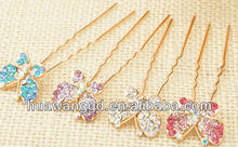 Metal snap barrettes with butterfly for ladies Wholesale