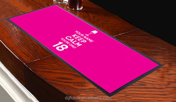 custom printed bar runner water absorbable non-woven fabric bar mat, nitrile rubber bar mat