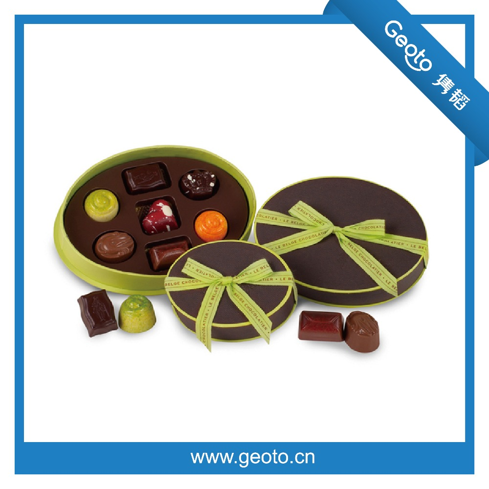 Shaped Paper Chocolate Paper Box Round Packing Box Gift Box