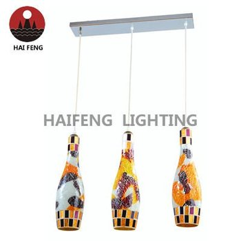 E27 high quality colorful pendant lighting glass pendant lamp HF-MD102/3