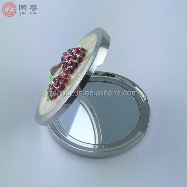 3D Bling Crystal Rhinestones Metal Travel Compact Pocket Crystal Folding Foldable Makeup Mirror
